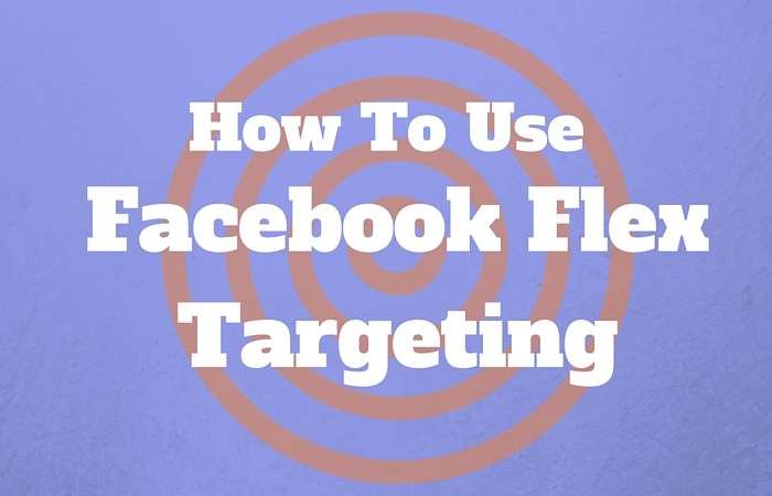 Facebook Flex Targeting