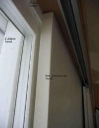 Insulating a Sliding Glass Door