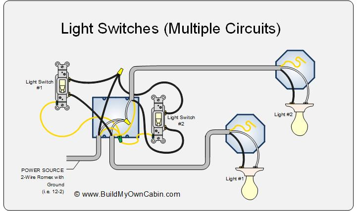 wiring diagram for light switch to multiple lights