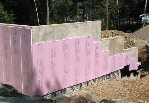 Concrete Foundation - Concrete Wall Insulation
