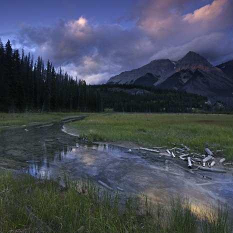 Sunset, Kicking Horse River, Yoho National Park, Canada ©Peter Essick