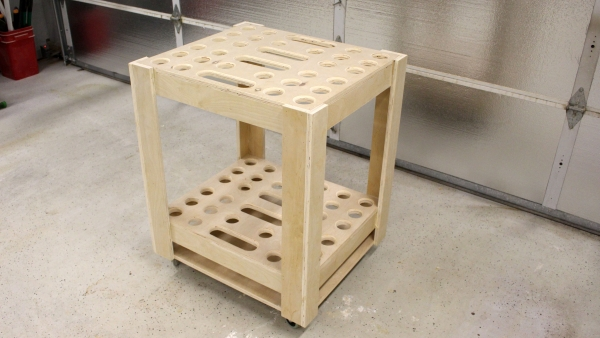 Make A Rolling Garden Tool Storage Cart Buildxyz