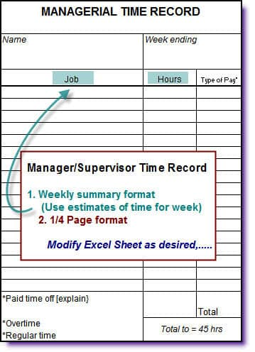 Timesheets for Construction Companies (English-only Version - excel job sheet template