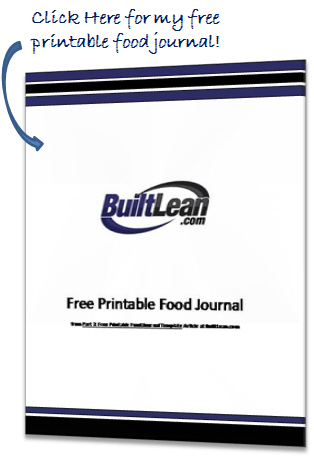 Best Free Printable Food Journal  Template - BuiltLean - free food journal templates