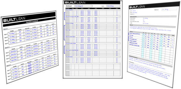Free Workout Log Template Thatu0027s Printable \ Easy To Use - BuiltLean - workout program sheet