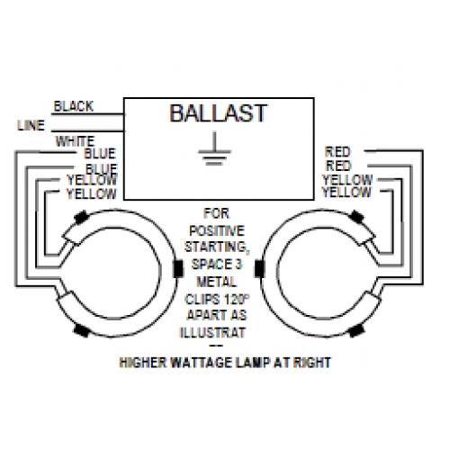 1) FC12T9 32W  (1) FC16T9 40W - Electronic Ballast w/ 2 Circline