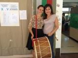 Екатерина Борисова, основател на българското училище в Bay Area, Северна Калифорния, до Сан Франциско, отбеляза с тъпан 100-ят гласувал, секцията Сънивейл, където броят на гласувалите днес вече наближава 300.