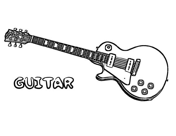 Electric Guitar Free Colouring Pages SaveEnlarge