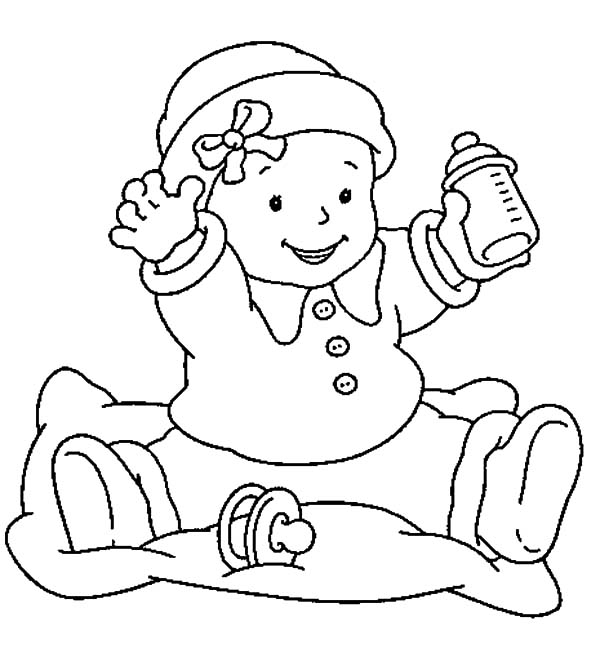 Free coloring pages of twin babies