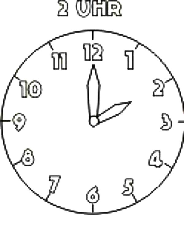 Coloring Page Clock Face Coloring Pages - clock templates