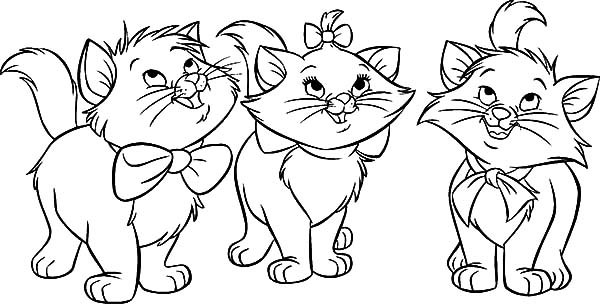 Three Little Kittens Coloring Page - Democraciaejustica