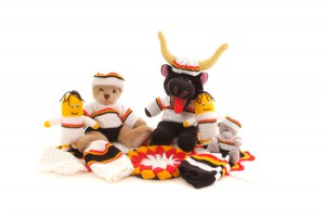 Some of Judith's home-made Bulls crafts