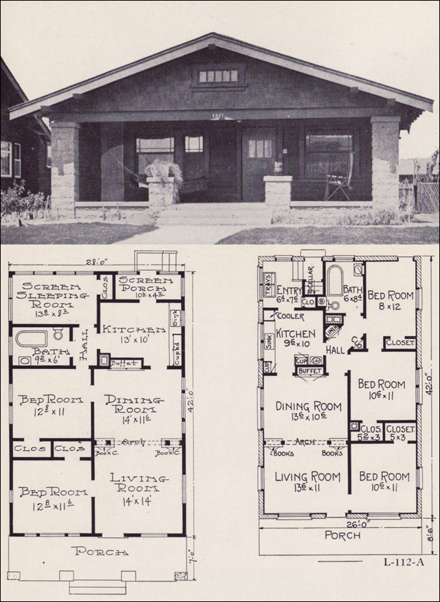 1920s House Plans by the EW Stillwell \ Co - Small Economical - bungalow floor plans