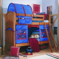 Lea Furniture My Place Twin over Twin Bunk Bed with Tent