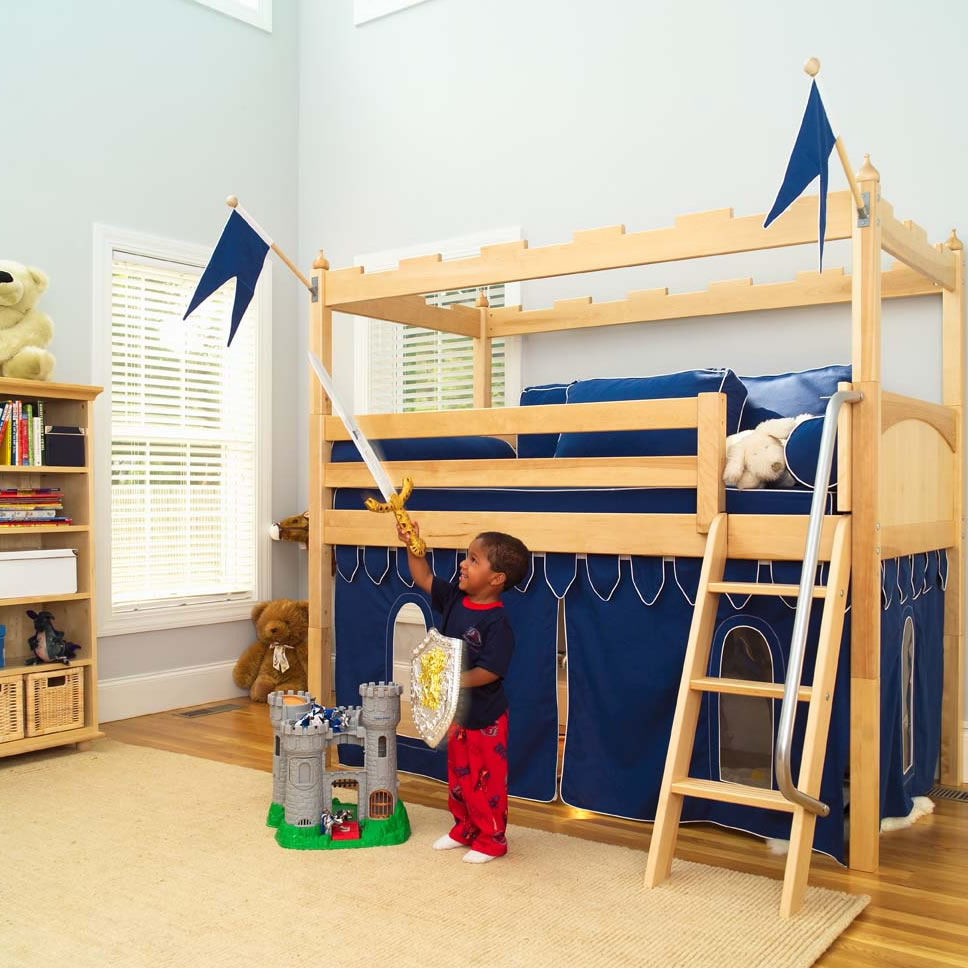 Camelot castle low loft bed