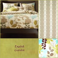 Country Bedding - English Garden Fitted Comforter Set