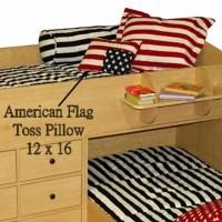 American Flag Pillow - Stars & Stripes Flag Toss Pillow
