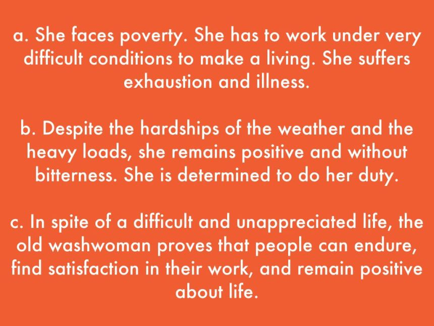 he washwoman by Isaac Bashevis Singer
