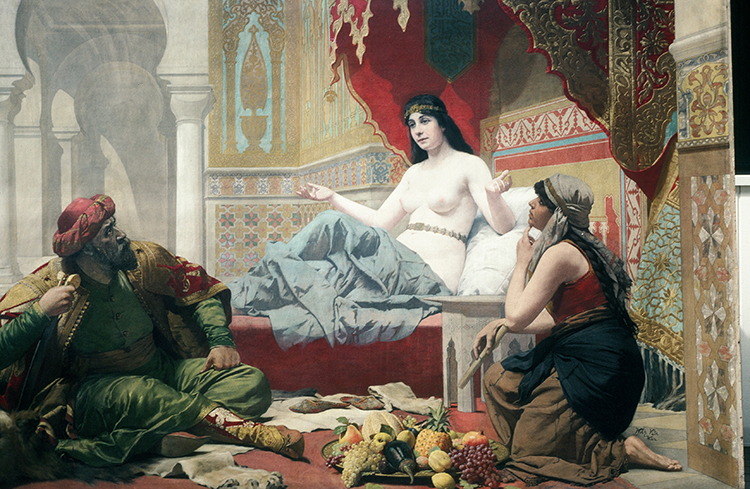 Scheherazade asked if she might bid one last farewell to her beloved sister, Dunyazade (Persian: دنیازاد - Donyāzād‎‎), who had secretly been prepared to ask Scheherazade to tell a story during the long night. The king lay awake and listened with awe as Scheherazade told her first story.