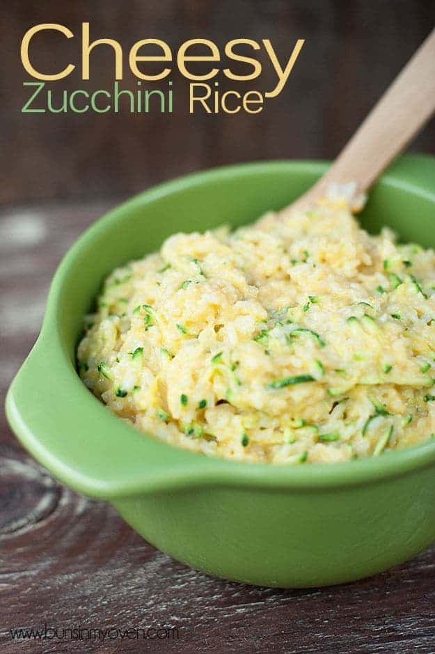 Easy and cheesy! Even kids love this zucchini rice. It's the perfect side dish for a busy night.
