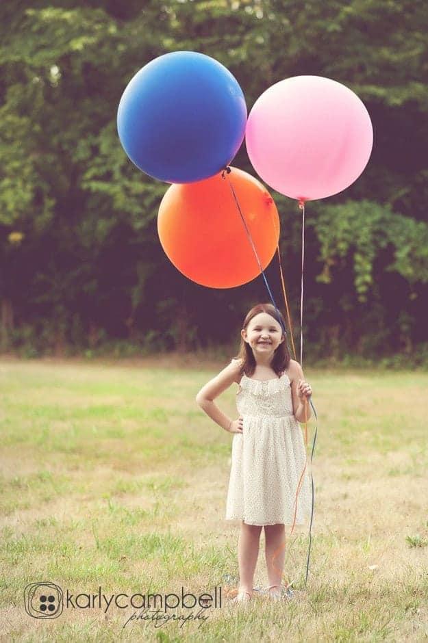 Balloons! So creative!