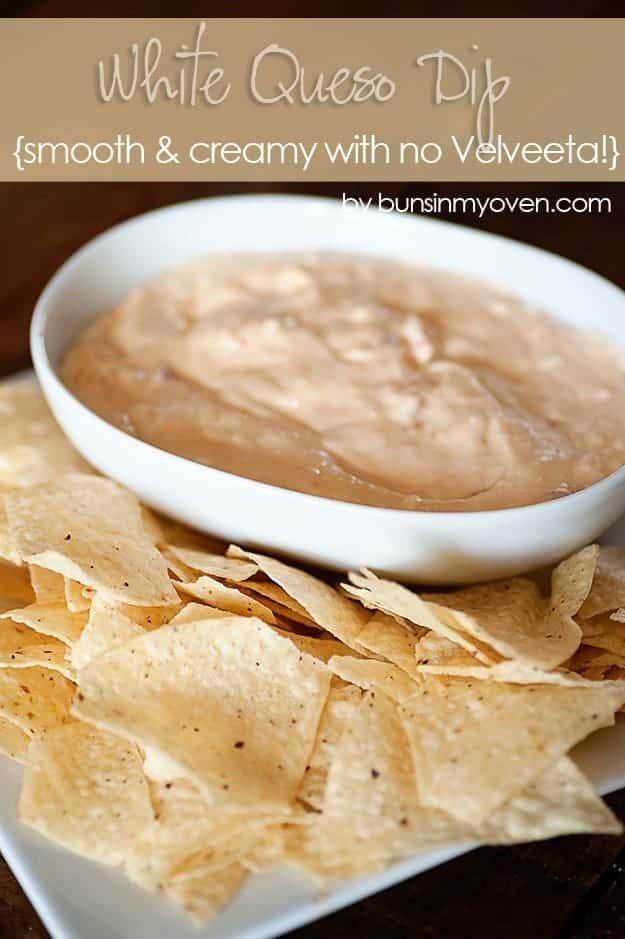 Creamy Queso Dip - no velveeta needed! #recipe by bunsinmyoven.com