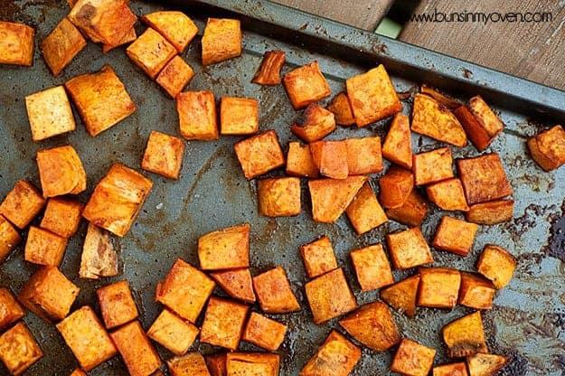 honey cinnamon roasted sweet potatoes recipe