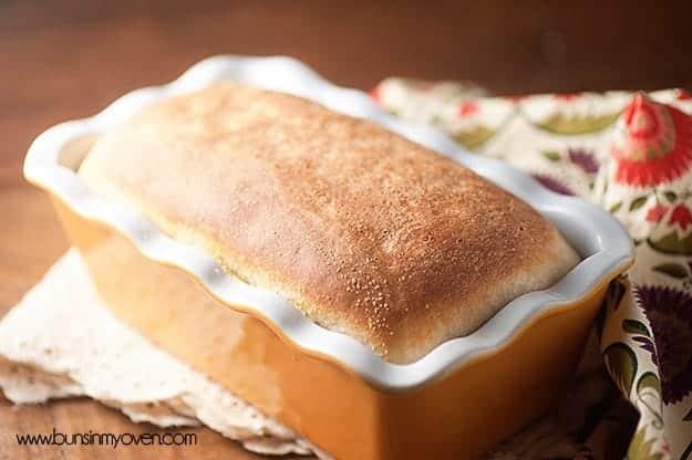 Homemade English Muffin Bread #recipe - tastes just like an english muffin!