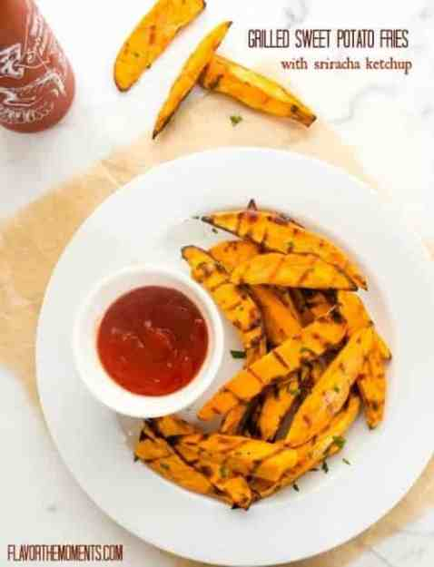 grilled-sweet-potato-fries-with-sriracha-ketchup1-flavorthemoments.com_-500x653