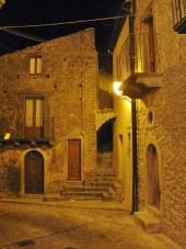 Montalbano Elicona scorcio serale centro storico