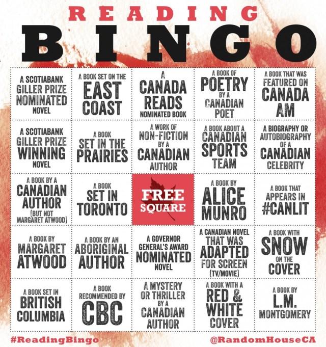 Canadian Bingo 2015 Random House