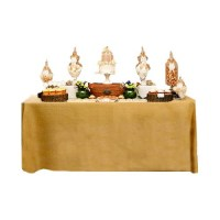 30 x 72 x 36 Fitted Tablecloth Burlap | Event Linens
