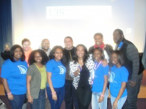 I had a blast down in Springfield with the Black Student Union at the University of Illinois-Springfield.