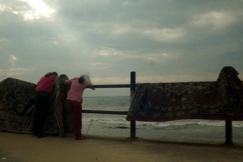 Gaza city beach. Shati Camp. Gaza Strip. 05-04-2010