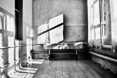 An empty hospital stretcher. Ingushetia Russia 2009