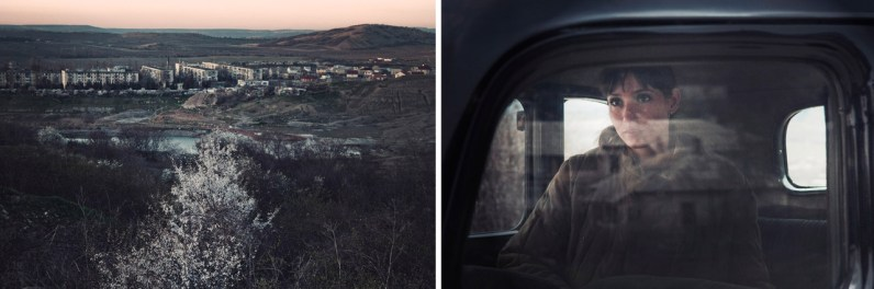 Left: Balaklava view in early spring. Right: Natasha in a vintage uniform is a participant of World War II reconstraction that she does with her husband and friends some times during the year.