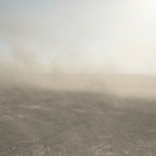 Mongolia, Gobi, Omongov, 2013 Coal dust raised by the wind in the Tavan Tolgoi Mine
