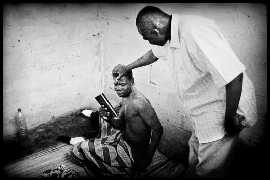 Pastor healing inmate to make his inner voices disappear...