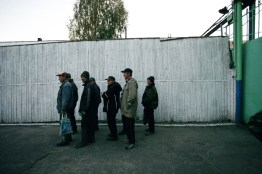 The inmates walk in an organized group, marching in two rows towards their workplace early in the morning, after the counting and checking procedure. Labour Treatment Profilactorium for alcohol addicted in Belarus. LTP is a part of the penal system and Belarus is the only country in the world that still practices the punishment of obligatory incarceration for addicts. There are five LTP in Belarus, each housing about 1600 inmates. One LTP is for women, the others are all male. The main treatment is labour, and camomile tea.