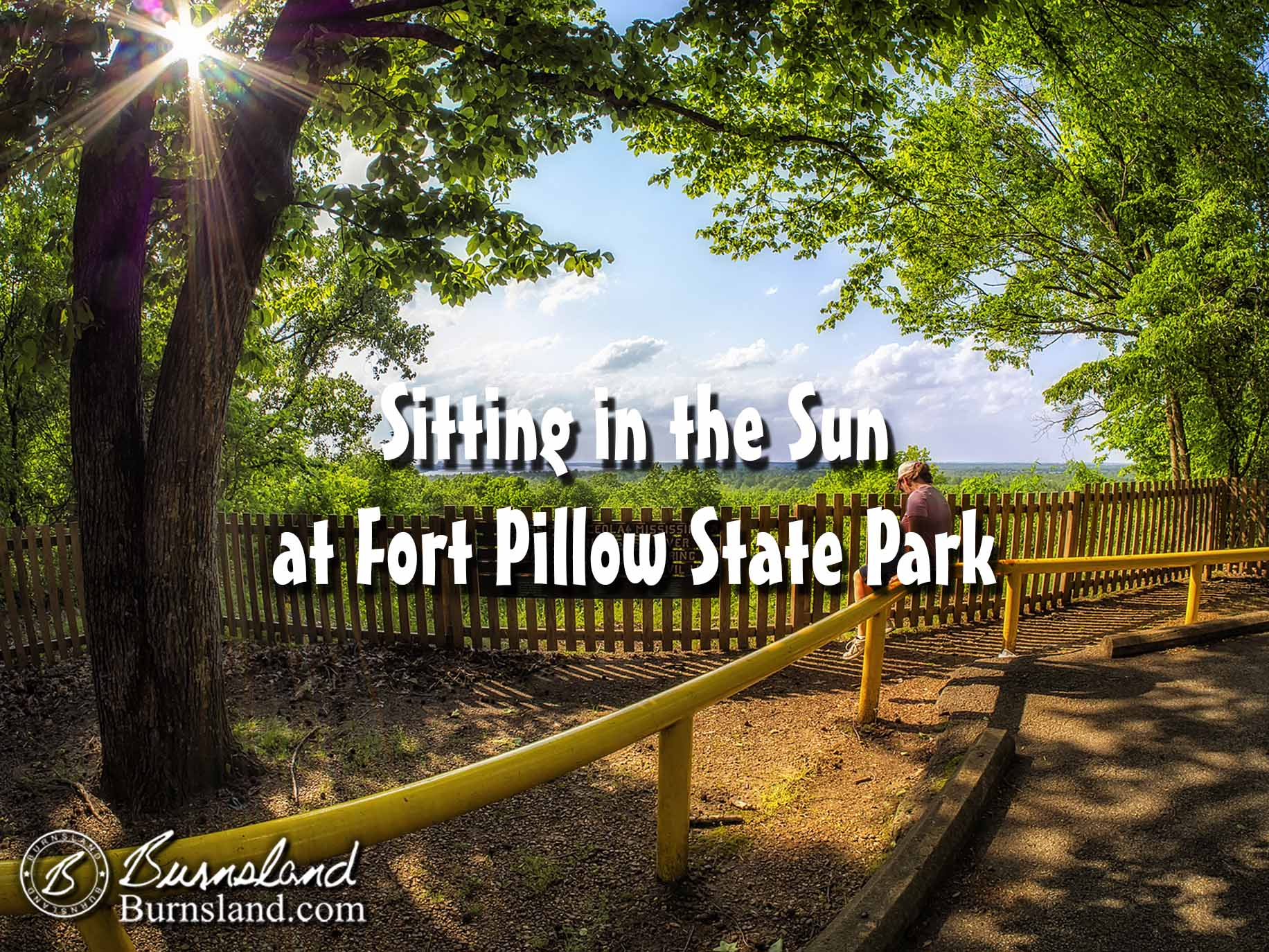 Sitting in the Sun at Fort Pillow State Park