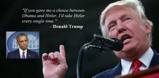 """Trump: """"Obama worse than Hitler."""""""