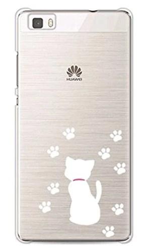 Vanki® TPU Coque – HuaWei p8 Lite Silicone Étui Housse Protecteur – Amusantes Capricieux Dessin chien (9)
