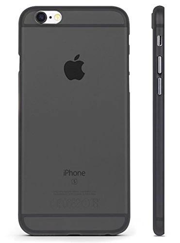 Coque pour Iphone 6 Ultra-Fine 0,35 mm et Anti-Rayures Transparente,Coque pour Iphone 6S,Housse pour Iphone 6S,Housse pour Iphone 6,RED CANARY,[GARANTIE À VIE],Transparent,Matière anti-dérapante.Noir