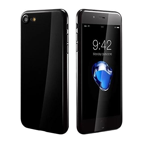 Coque iPhone 7, iphone 7 case cover 0.3mm Ultra Slim Fin Ultra Mince et Ultra Léger Semi Rigide Bumper en Gel Silicone Housse de Protection Coque Pour Apple iphone7(2016) 4.7 Noir de jais