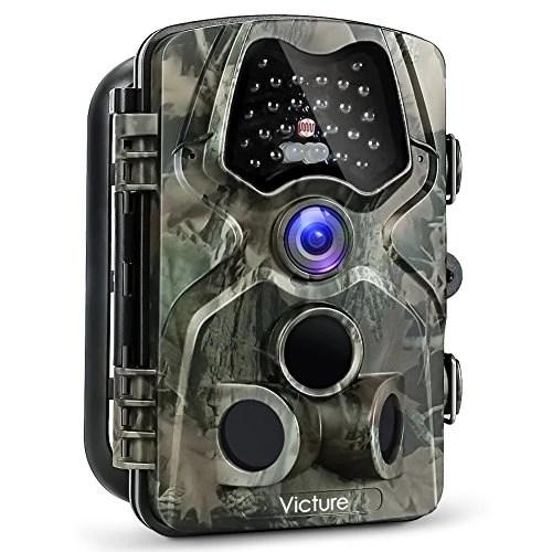 Victure Caméra de Chasse 12Mp 1080P Détecteur de Mouvement Infrarouge de Vision Nocturne de Grand Angle 120° Étanche IP66 Pièges Photographiques Appareil Photo de Surveillance pour Animaux et Sécurité