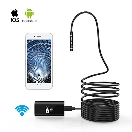 WiFi Endoscope Pancellent Wireless Endoscope 2.0 Méga Pixels HD Inspection Caméra Rigide Serpent Cable (5 Metes) Pour IOS Iphone Smartphone Android de Samsung