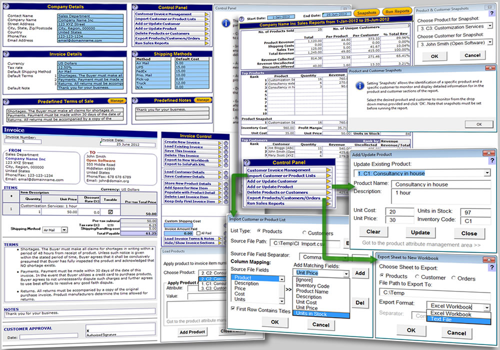 Excel Invoice Template - product invoice