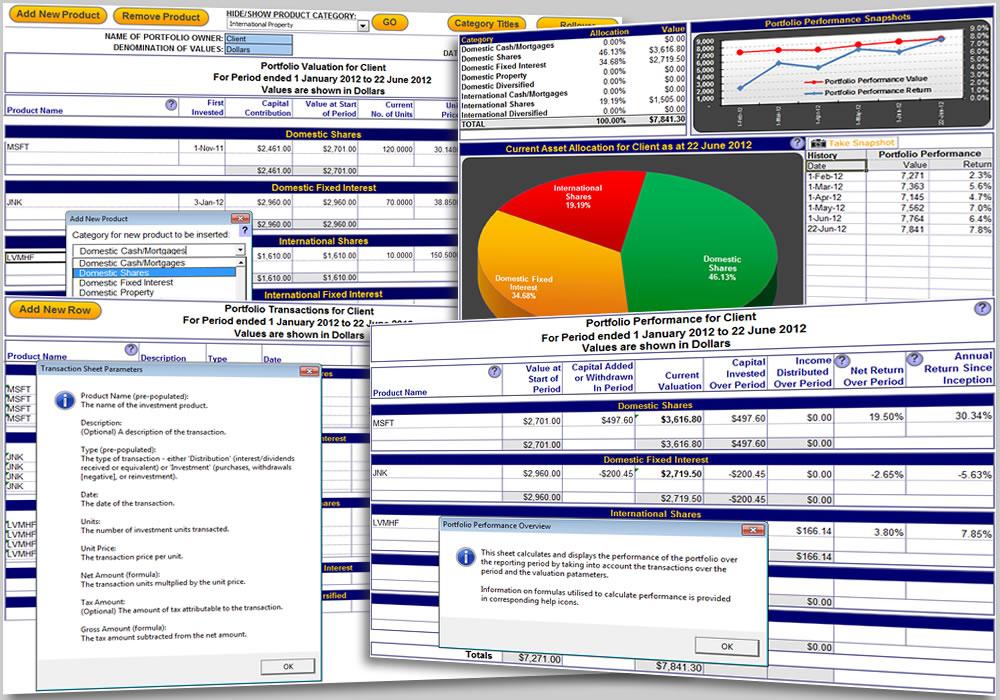 Excel Portfolio Performance Tracking Template