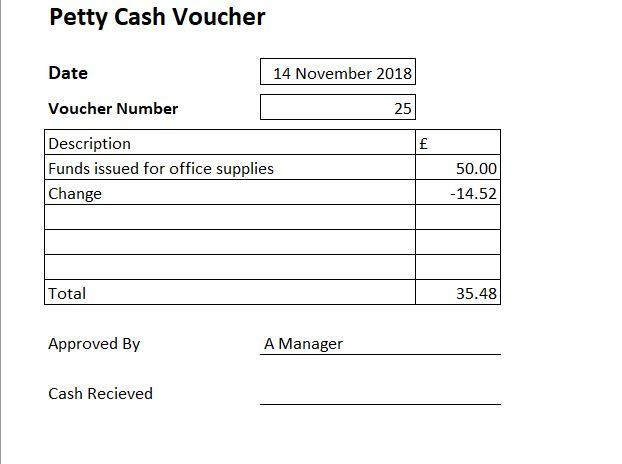 Free Petty Cash Voucher Template - Excel Petty Cash Voucher