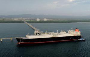 An LNG ship